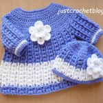 crochet angel dress-pull on hat