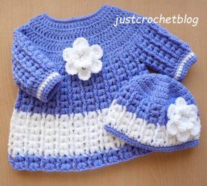 crochet angel dress-pull on hat