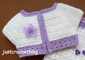 crochet-short jacket