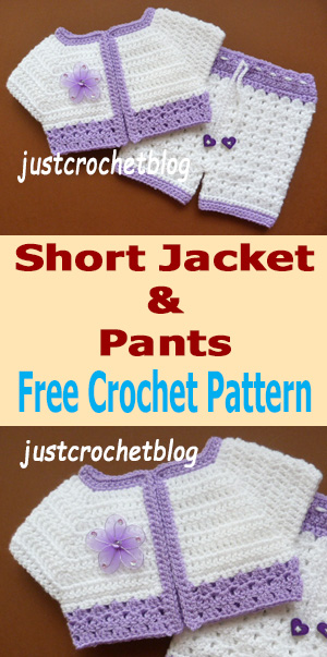 crochet short jacket and pants uk