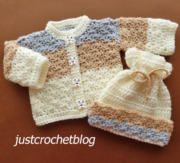 crochet dolls coat and hat
