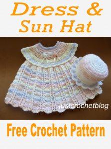 crochet dress-sun hat