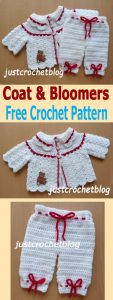 crochet coat and bloomers