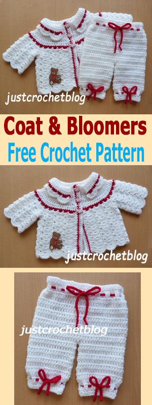 crochet coat and bloomers uk