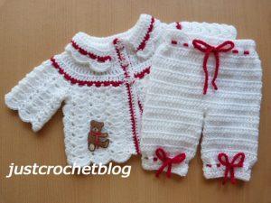 crochet collared coat-bloomers