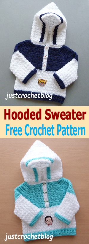 crochet hooded sweater uk