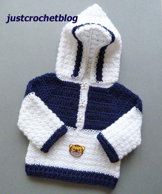 crochet hooded sweater