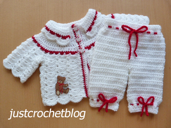 crochet collared coat and bloomers