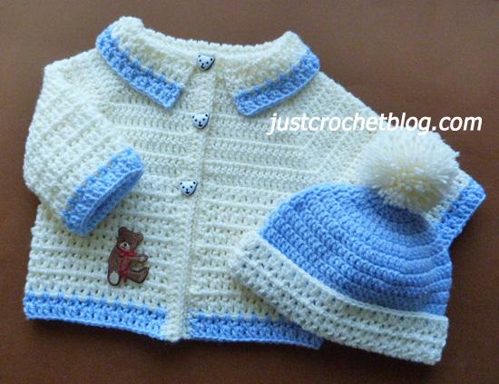 crochet coat-bobble hat