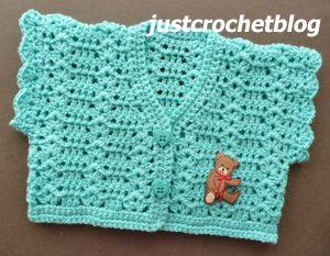 crochet girls short cardigan1