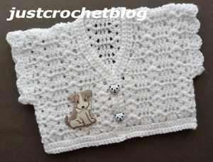 crochet girls short cardigan2