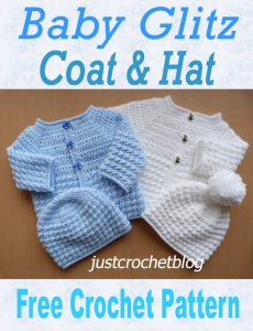 crochet baby gltiz coat and hat