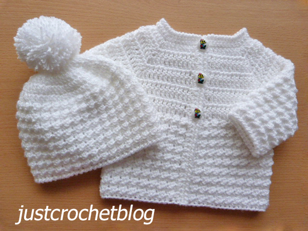crochet coat and hat