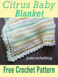 citrus baby blanket