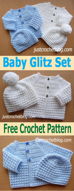 crochet baby glitz coat-hat uk