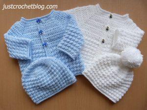 crochet baby glitz coat-hat