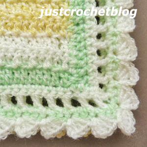 crochet citrus baby blanket corner