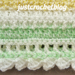 crochet citrus baby blanket edge