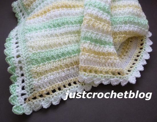 crochet citrus baby blanket