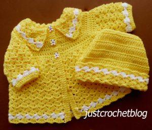 crochet coat-ski hat