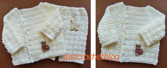 crochet wrapped cream set