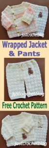 crochet wrapped jacket-pants