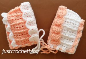 pretty crochet bonnet