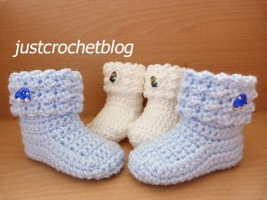 crochet baby glitz booties