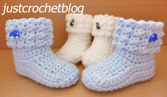 crochet baby glitz booties uk