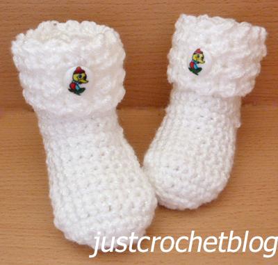 crochet baby glitz booties1