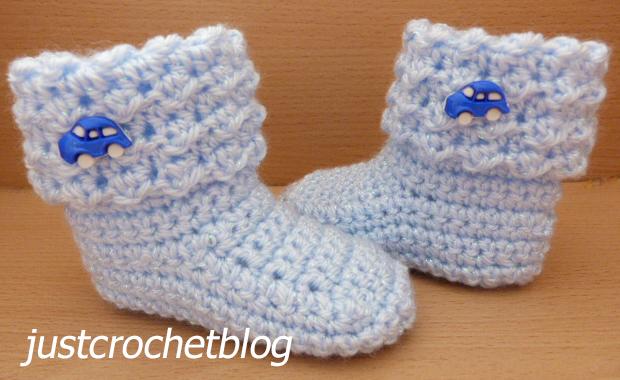 crochet baby glitz booties2