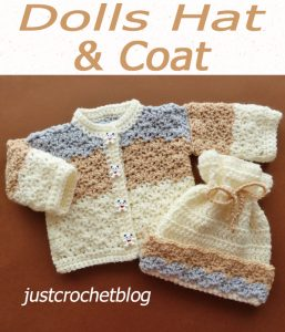 crochet dolls coat-hat