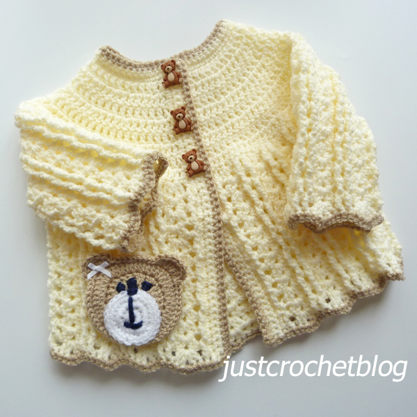 crochet shell coat